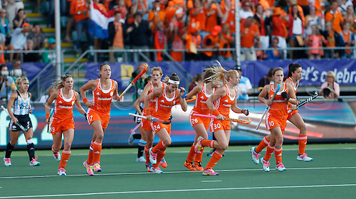 12.06.2014. The hague, Netherlands.  Maartjen Paumen - Netherlands versus Argentina, semi-final Womens  Rabobank Hockey World Cup 2014. The game ended 4-0 with Netherlands making the final