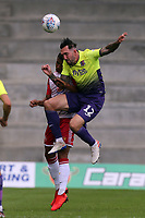 Ryan Bowman of Exeter City and Emmanuel Sonupe of Stevenage during Stevenage vs Exeter City, Sky Bet EFL League 2 Football at the Lamex Stadium on 10th August 2019