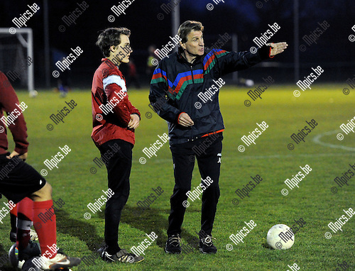 2013-03-06 / Voetbal / seizoen 2012-2013 / Jan Ceulemans geeft een demotraining aan de U17 van Lyra ..Foto: Mpics.be