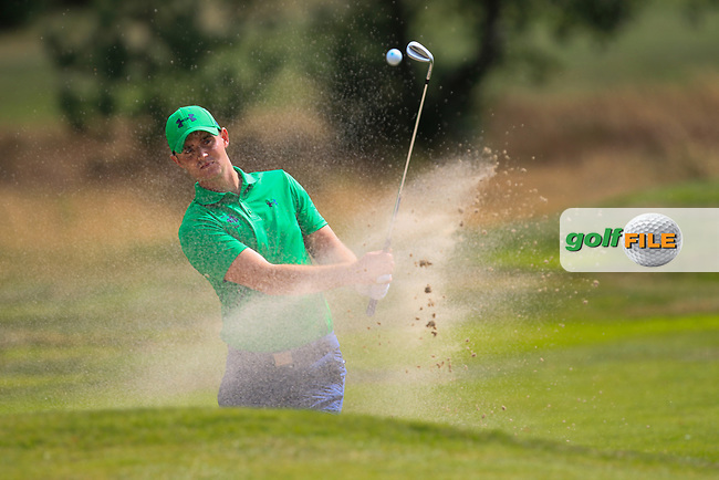 Conor O'Rourke (Ireland) on the 1st during the Day 1 Singles of the Home Internationals at Moortown Golf Club, Leeds, England. 16/08/2017<br /> Picture: Golffile | Thos Caffrey<br /> <br /> All photo usage must carry mandatory copyright credit     (&copy; Golffile | Thos Caffrey)