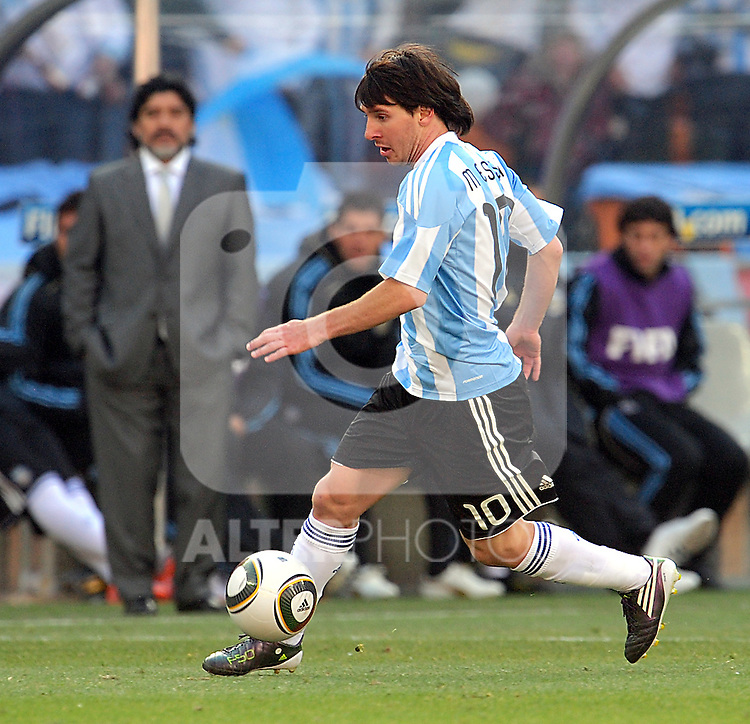 10 Lionel MESSI during the 2010 World Cup Soccer match between Argentina vs Korea Republic played at Soccer City in Johannesburg, South Africa on 17 June 2010.