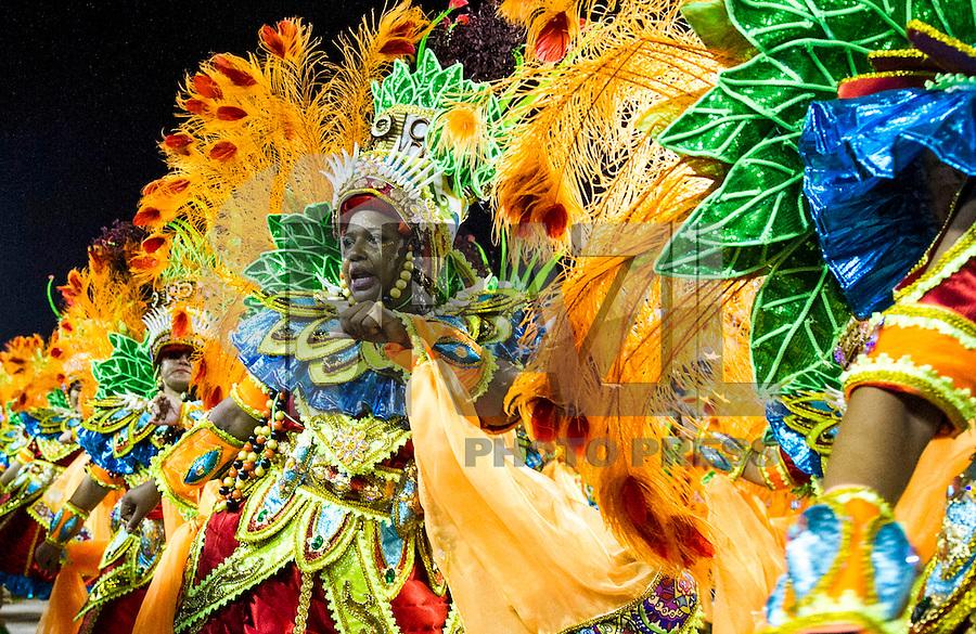 RIO DE JANEIRO, RJ, 17.02.2015 - CARNAVAL 2015 - RIO DE JANEIRO - GRUPO ESPECIAL / BEIJA-FLOR- Integrantes da escola de samba Beija-Flor durante desfile do grupo Especial do Carnaval do Rio de Janeiro, na madrugada desta terça-feira (16). ( Foto: Paulo Lisboa / Brazil Photo Press).