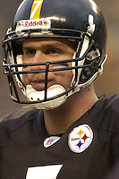 28 November 2004: Ben Roethlisberger..Pittsburgh Steelers defeated the Washington Redskins 16-7 November 28, 2004 at Heinz Field in Pittsburgh, PA..Mandatory Credit: Randy Litzinger..