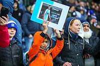 Blackburn Rovers fans await kick off<br /> <br /> Photographer Alex Dodd/CameraSport<br /> <br /> The EFL Sky Bet Championship - Blackburn Rovers v Hull City - Saturday 26th January 2019 - Ewood Park - Blackburn<br /> <br /> World Copyright © 2019 CameraSport. All rights reserved. 43 Linden Ave. Countesthorpe. Leicester. England. LE8 5PG - Tel: +44 (0) 116 277 4147 - admin@camerasport.com - www.camerasport.com