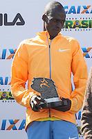 SÃO PAULO, SP - 17.05.2015 - MARATONA-SP - Asbel Kipsang, campeão da XXI Maratona de São Paulo, que ocorre neste domingo (17), a maratona tem um percurso de 42km com sua largada e chegada no Parque do Ibirapuera, zona sul de São Paulo (Foto: Douglas Pingituro / Brazil Photo Press)