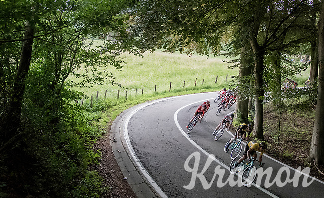 descending peloton<br /> <br /> Ster ZLM Tour (2.1)<br /> Stage 4: Hotel Verviers &gt; La Gileppe (Jalhay)(190km)