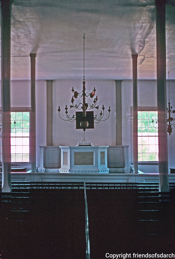 Bishop Hill: Old Colony Church, 1848. Interior. Photo '77.