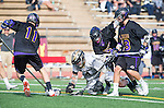 San Diego, CA 05/25/13 - Robert Sweeney  (Carlsbad #11), Jack Beetham (Carlsbad #13), Carrigan Henkel (Westview #9) and John Rankin (Westview #4) in action during the 2013 Boys Lacrosse San Diego CIF DIvision 1 Championship game.  Westview defeated Carlsbad 8-3.