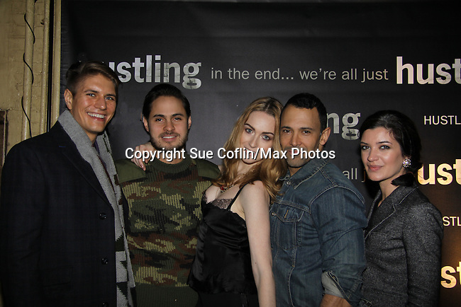 "Cast of another series with Sebastian La Cause at the third and final season of ""Hustling"" screening on December 16, at the Tribeca Cinemas, New York City, New York. The evening had a red carpet, cocktails and the screening. (Photo by Sue Coflin/Max Photos)"