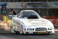 Apr 24, 2015; Baytown, TX, USA; NHRA funny car driver John Hale during qualifying for the Spring Nationals at Royal Purple Raceway. Mandatory Credit: Mark J. Rebilas-