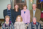 1724-1727.---------.Christmas feast.---------------.Friends and relatives of residents of Cu?il-Di?dan gathered in Gally's bar/restaurant,Tralee last Thursday night for a fine dinner(seated)L-R Mary Brosnan,June O'Sullivan and Sr M Benedict(back)L-R Fr Dan Ahern,Karen Brosnan with Jane&Brendan Hurley.