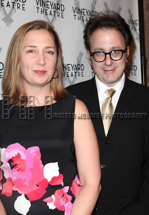 Jennifer Garvey Blackwell, Nicky Silver attending the Vineyard Theatre's 30th Anniversary Gala Celebration Cocktail Reception at the Edison Ballroom in New York City on 3/18/2013