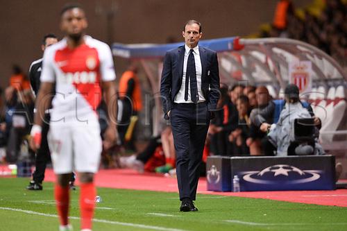 May 3rd 2017, Stade Louis II, Monaco,France; UEFA Champions league football semi-final, AS Monaco versus Juventus;  Massimiliano Allegri (TRAINER JUVENTUS)