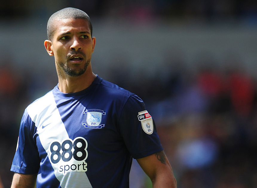 Preston North End's Jermaine Beckford<br /> <br /> Photographer Kevin Barnes/CameraSport<br /> <br /> The EFL Sky Bet Championship - Wolverhampton Wanderers v Preston North End - Sunday 7th May 2017 - Molineux Stadium <br /> <br /> World Copyright &copy; 2017 CameraSport. All rights reserved. 43 Linden Ave. Countesthorpe. Leicester. England. LE8 5PG - Tel: +44 (0) 116 277 4147 - admin@camerasport.com - www.camerasport.com