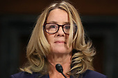 WASHINGTON, DC - SEPTEMBER 27:  Christine Blasey Ford prepares to testify before the Senate Judiciary Committee in the Dirksen Senate Office Building on Capitol Hill September 27, 2018 in Washington, DC. A professor at Palo Alto University and a research psychologist at the Stanford University School of Medicine, Ford has accused Supreme Court nominee Judge Brett Kavanaugh of sexually assaulting her during a party in 1982 when they were high school students in suburban Maryland.  (Photo by Win McNamee/Getty Images)