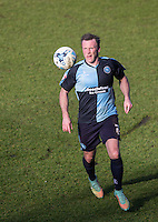 Garry Thompson of Wycombe Wanderers in action during the Sky Bet League 2 match between Wycombe Wanderers and Mansfield Town at Adams Park, High Wycombe, England on 25 March 2016. Photo by Andy Rowland.