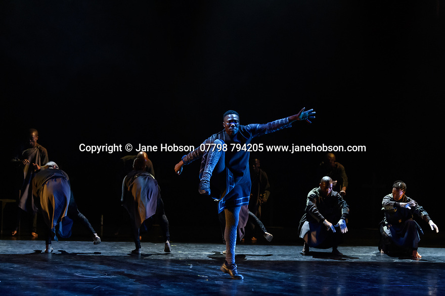 Gregory Maqoma's CION: A Requiem to Ravel's Bolero, part of Dance Umbrella, at the Barbican Theatre, 17 - 19 October 2019. Picture shows: Gregory Maqoma and Vuyani Dance Theatre.