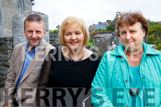 Tommy Martin, Aileen Lynch and Brenda Stack attending the Con Houlihan Remembrance Day concert at the Ivy Leaf Arts Theatre in Castleisland on Saturday last.