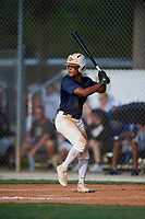 Tiger Borom during the WWBA World Championship at the Roger Dean Complex on October 18, 2018 in Jupiter, Florida.  Tiger Borom is an outfielder from Jonesboro, Georgia who attends Strong Rock Christian School.  (Mike Janes/Four Seam Images)