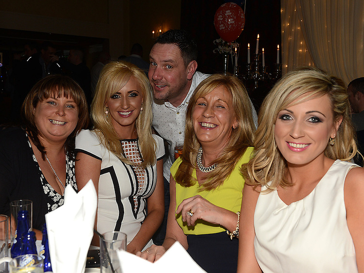 Valerie Smith, Daryl Francis, Lorna McKenna, Stella and Christina Lynch pictured at Alan Kearns' 40th birthday in the Westcourt hotel. Photo:Colin Bell/pressphotos.ie