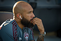 SAN JOSÉ CA - JULY 27: Tim Howard #1 during a Major League Soccer (MLS) match between the San Jose Earthquakes and the Colorado Rapids on July 27, 2019 at Avaya Stadium in San José, California.