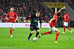 04.11.2018, Opel-Arena, Mainz, GER, 1 FBL, 1. FSV Mainz 05 vs SV Werder Bremen, <br /> <br /> DFL REGULATIONS PROHIBIT ANY USE OF PHOTOGRAPHS AS IMAGE SEQUENCES AND/OR QUASI-VIDEO.<br /> <br /> im Bild: Johannes Eggestein (SV Werder Bremen #24) gegen Aaron Martin (#3, FSV Mainz)<br /> <br /> Foto © nordphoto / Fabisch