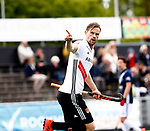 AMSTELVEEN  -  Mirco Pruyser (Adam) heeft gescoord.  Hoofdklasse hockey  ,competitie, heren, Amsterdam-Pinoke (3-2)  . COPYRIGHT KOEN SUYK