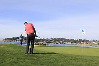 Ted Potter Jr. (USA) chips onto the 7th green during Sunday's Final Round of the 2018 AT&amp;T Pebble Beach Pro-Am, held on Pebble Beach Golf Course, Monterey,  California, USA. 11th February 2018.<br /> Picture: Eoin Clarke | Golffile<br /> <br /> <br /> All photos usage must carry mandatory copyright credit (&copy; Golffile | Eoin Clarke)