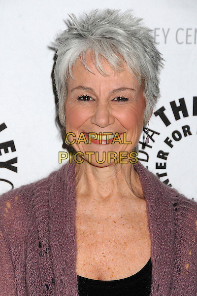 "Andrea Romano.""Batman: The Dark Knight Returns, Part 2"" Los Angeles Premiere held at The Paley Center, Beverly Hills, California, USA..January 28th, 2013.headshot portrait black pink knitted crochet .CAP/ADM/BP.©Byron Purvis/AdMedia/Capital Pictures."