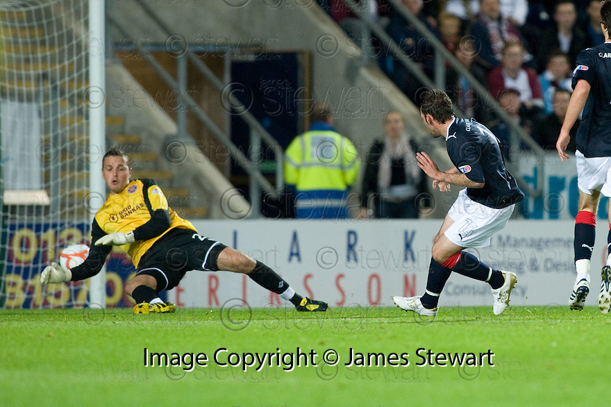 21/09/2010   Copyright  Pic : James Stewart.sct_jsp001_falkirk_v_hearts  .:: MARK STEWART SCORES FALKIRK'S FIRST :: .James Stewart Photography 19 Carronlea Drive, Falkirk. FK2 8DN      Vat Reg No. 607 6932 25.Telephone      : +44 (0)1324 570291 .Mobile              : +44 (0)7721 416997.E-mail  :  jim@jspa.co.uk.If you require further information then contact Jim Stewart on any of the numbers above.........
