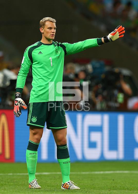 Germany goalkeeper Manuel Neuer gestures