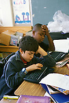 Berkeley CA 5th grade students using Alphasmart computer word processors for writing projects