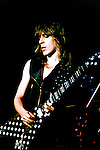 Randy Rhoads of Ozzy Osbourne's Blizzard of Oz performing live at Capitol Theater, Passaic, New Jersey in April 1981. Randy Rhoads