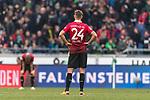 10.03.2018, HDI Arena, Hannover, GER, 1.FBL, Hannover 96 vs FC Augsburg<br /> <br /> im Bild<br /> Niclas F&uuml;llkrug / Fuellkrug (Hannover 96 #24) entt&auml;uscht / enttaeuscht, niedergeschlagen nach Spielende, <br /> <br /> Foto &copy; nordphoto / Ewert
