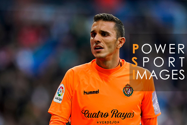 Goalkeeper Jordi Masip Lopez of Real Valladolid reacts during the La Liga 2018-19 match between Real Madrid and Real Valladolid at Estadio Santiago Bernabeu on November 03 2018 in Madrid, Spain. Photo by Diego Souto / Power Sport Images