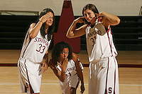 01 October 2007: (L-R): Jillian Harmon, Rosalyn Gold-Onwude, and Morgan Clyburn.