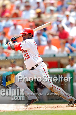 30 June 2005: Cristian Guzman, shortstop for the Washington Nationals, at bat during a game against the Pittsburgh Pirates. The Nationals defeated the Pirates 7-5 to sweep the 3-game series at RFK Stadium in Washington, DC.  Mandatory Photo Credit: Ed Wolfstein