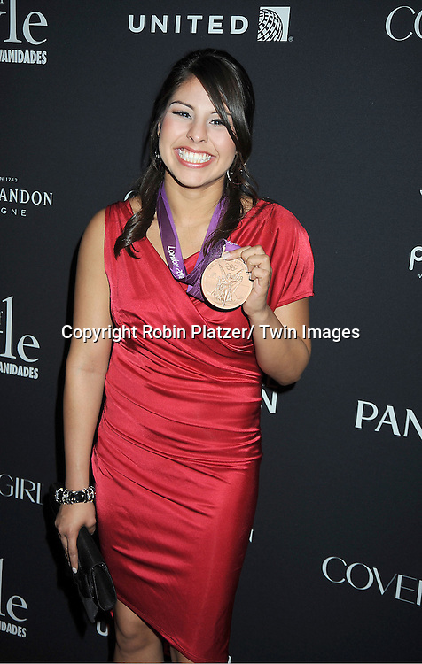Olympian winner Marlen Esparza attends the Vanidades Magazine  Icons of Style Gala on September 27, 2012 at the Mandarin Oriental Hotel in New York City.
