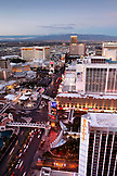 USA, Nevada, Las Vegas, Sin City, taking in the view of the Las Vegas Strip from the top of the Eiffel Tower, looking North, Paris Las Vegas Hotel and Casino