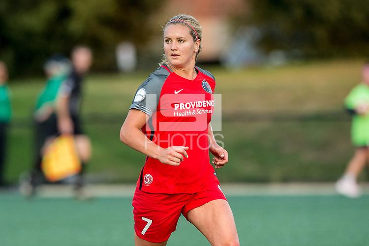 Boston, MA - Sunday September 10, 2017: Lindsey Horan during a regular season National Women's Soccer League (NWSL) match between the Boston Breakers and Portland Thorns FC at Jordan Field.