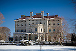 The Breakers mansion in winter,  Newport, RI, USA