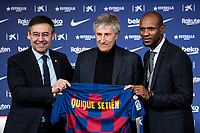 2020 Barcelona Introduce New Manager Quique Setien Press Conference Jan 14th