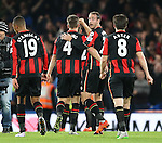 Bournemouth's Glenn Murray (centre) celebrates at the final whistle <br /> <br /> Barclays Premier League - Chelsea v AFC Bournemouth - Stamford Bridge - England - 5th December 2015 - Picture David Klein/Sportimage