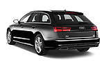 Car pictures of rear three quarter view of a 2018 Audi A6 Avant S Line Select Doors Door Wagon angular rear