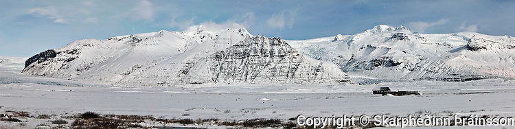 Skaftafell National Park Panorama, south Iceland