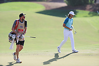 Tommy Fleetwood (ENG) on the 18th during the final round of the DP World Tour Championship, Jumeirah Golf Estates, Dubai, United Arab Emirates. 19/11/2017<br /> Picture: Golffile | Fran Caffrey<br /> <br /> <br /> All photo usage must carry mandatory copyright credit (© Golffile | Fran Caffrey)