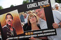 Pictured: People take selfies Saturday 18 June 2016<br /> Re: Lionel Richie, All The Hits concert at the Liberty Stadium, Swansea, Wales, UK