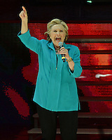 MIAMI FL - OCTOBER 20: Hillary Clinton speaks on stage at the Jennifer Lopez Gets Loud for Hillary Clinton at GOTV Concert at The Bayfront Park Amphitheatre on October 29, 2016 in Miami, Florida. Credit: mpi04/MediaPunch