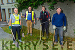 Members of the Blennerville Tidy Towns ready to do a clean up of Blennerville on Thursday evening. L to r: Pat Sullivan, John and Sean Kerins and Richard Rowan.
