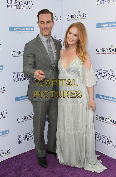 BRENTWOOD, CA June 03- James Van Der Beek, Kimberly Brook, at 16th Annual Chrysalis Butterfly Ball at Private Residence, California on June 03, 2017. Credit: Faye Sadou/MediaPunch<br /> CAP/MPI/FS<br /> &copy;FS/MPI/Capital Pictures